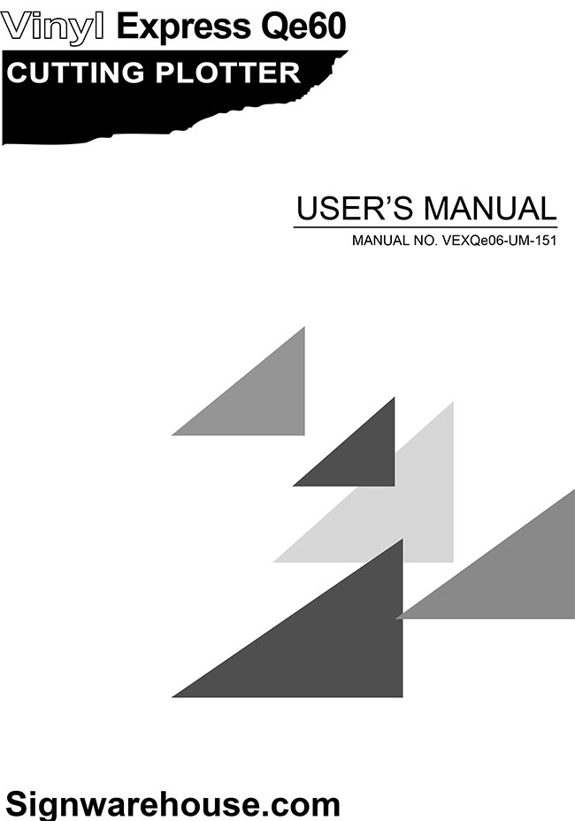 Qe60 user manual cover image